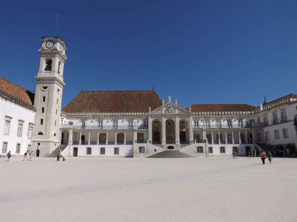 Patio da Universidade de Coimbra.