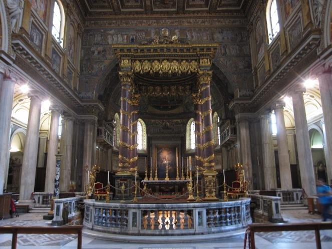 Interior da Basílica de Santa Maria Maggiore